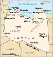carte Libye - Libye, un océan d'insécurité livré aux milices